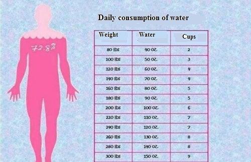 hvor mange vand indeholder menneskekroppen