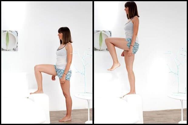 Kvinde der laver trappe oevelse