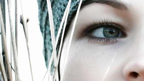 Closeup af kvindes oeje