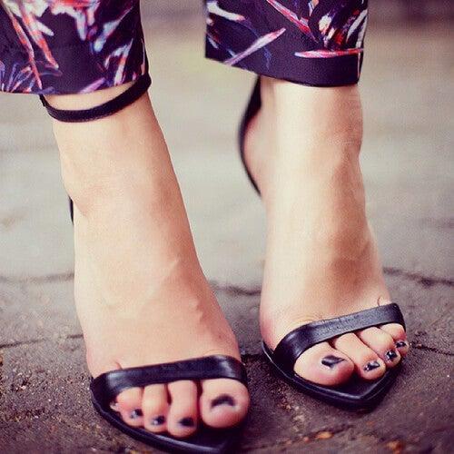 Sandaler med høje hæle.