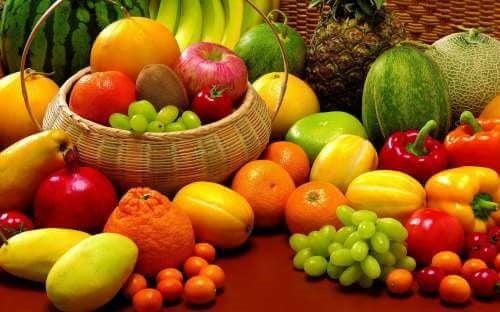 Frugt og grønt.