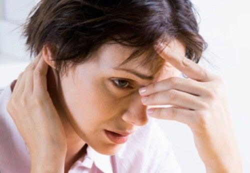 Kvinde med angst og stress