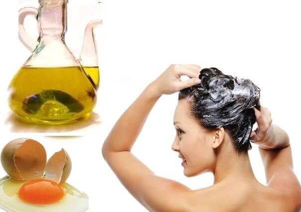 Maske af olivenolie aeg og honning