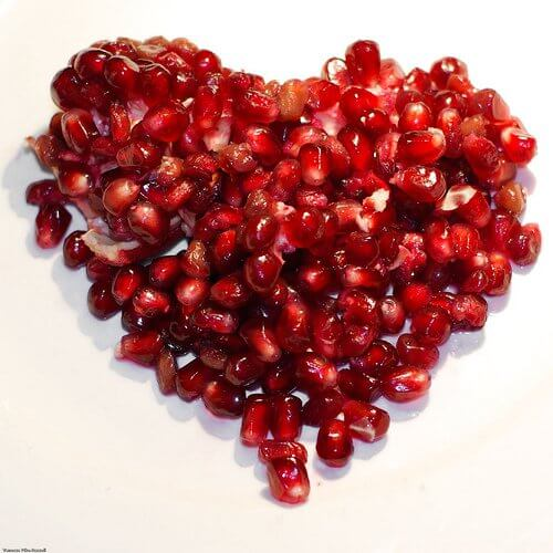 Hjerte formet af frugt