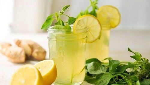 ingefær citron mynte