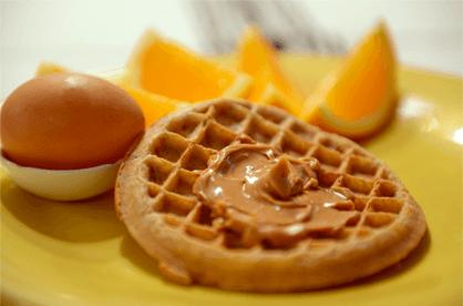 Vaffel med peanut butter
