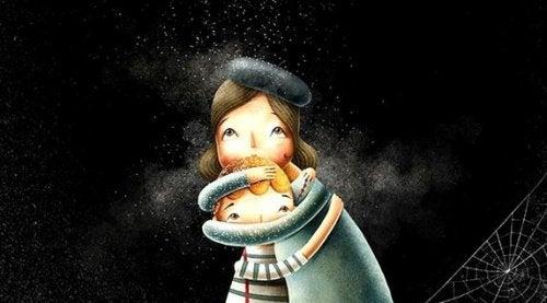 Mor der krammer sit barn