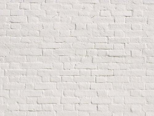 Hvid murstensvaeg
