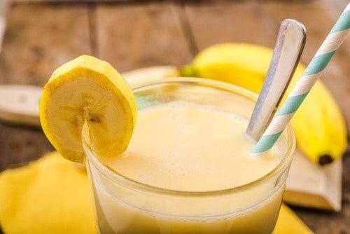 Banan-smoothies er gode, når du gerne vil tabe dig