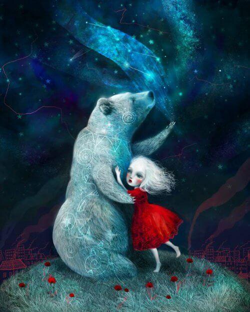 Pige og bjørn