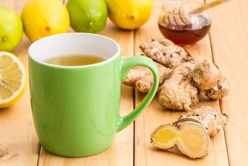 Citron ingefaer og honning te