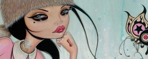 Tegning af en kvinde - foelelsesmaessige vampyrer