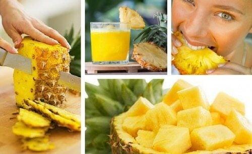 Afgift kroppen med ananas