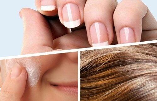"""Sådan styrkes hår, hud og negle """"indefra"""""""