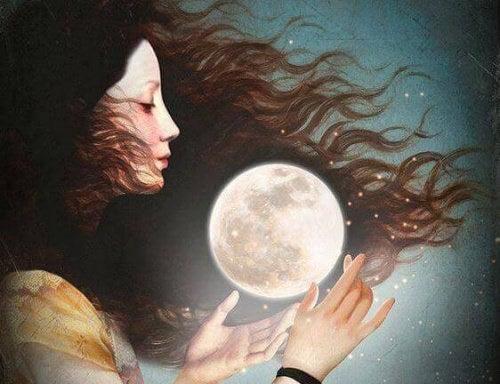 Kvinde og en maane