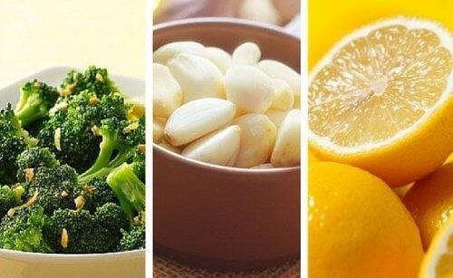 Vægttab og sundhed: Broccoli, citron og hvidløg