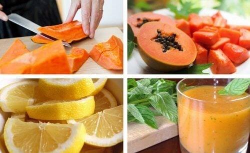 Citron- og papayasmoothie til afgiftning af din mave