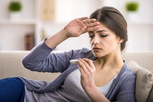 Kvinde med feber