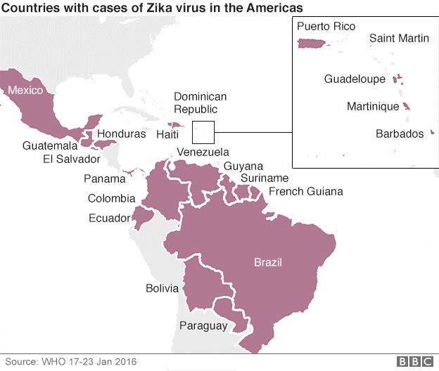 Zika virus kort