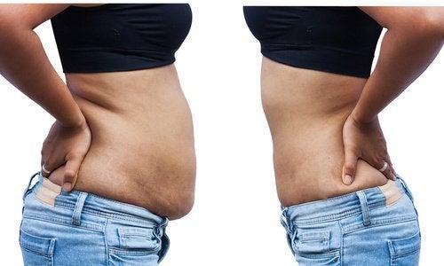 tab vægt på maven