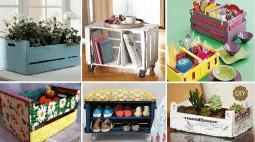 20 gode ideer til hvordan du kan genbruge gamle trækasser