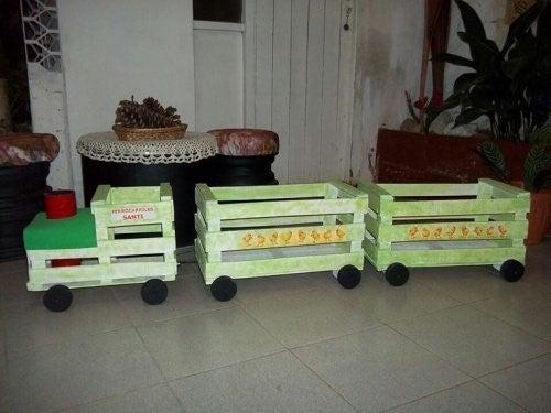Genbrug af traekasser