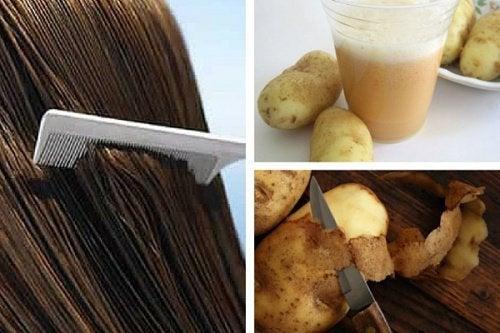 Få håret til at gro igen... med kartoffelsaft