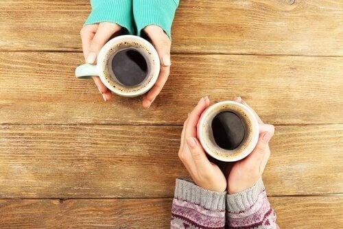 Kaffe med vennerne