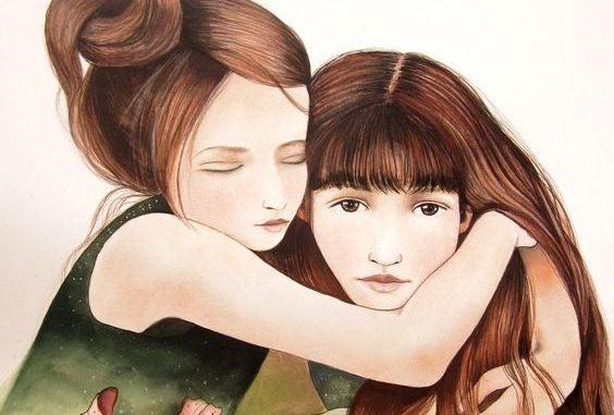En søster er mere end en ven. Hun er vores halve hjerte
