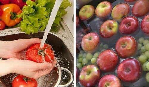 Sådan vasker du pesticider af dine frugter og grøntsager
