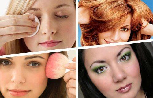 Kvinder der paafoerer makeup