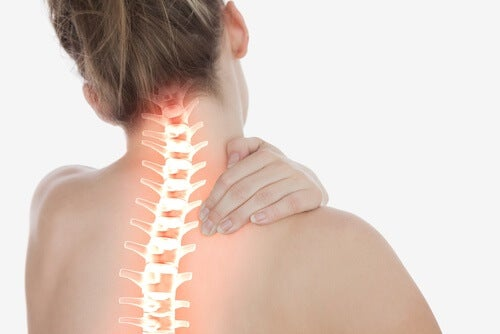 Kvinde og hendes rygrad