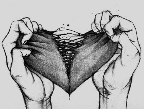 To haender der river et hjerte itu