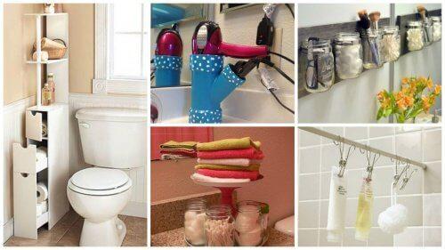 19 tips til ekstra plads på badeværelset