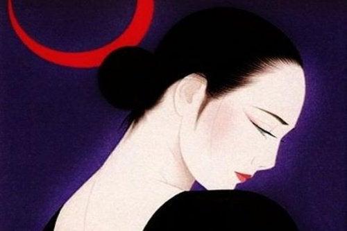 Maleri med en kvinde