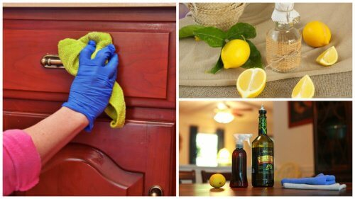 Hjemmelavet rengøringsprodukt til at fjerne støv fra møbler