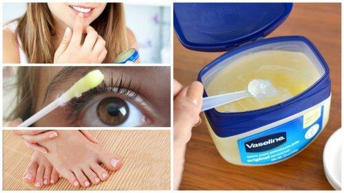 12 kosmetiske måder at bruge vaseline på