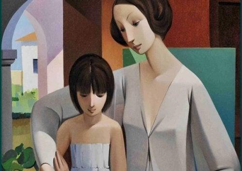 Det intime og følelsesmæssige mor og datterbånd