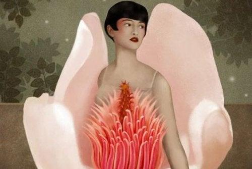 Kvinde og blomst