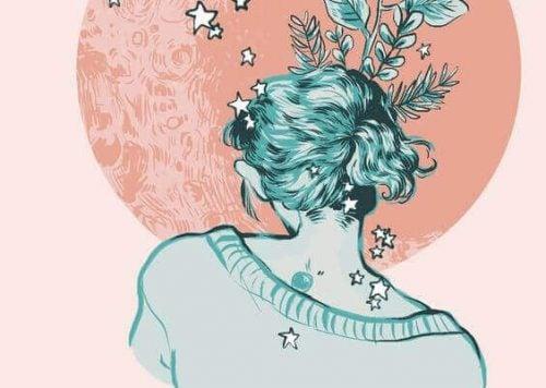 kvinde med stjerner