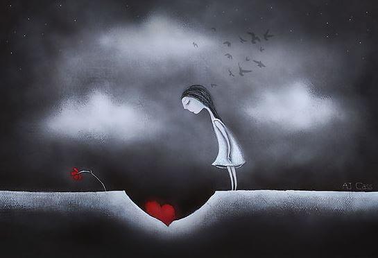 Kvinde med tilintergjort hjerte
