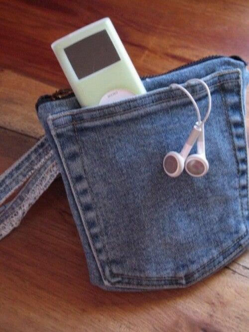 Lille taske af gamle jeans