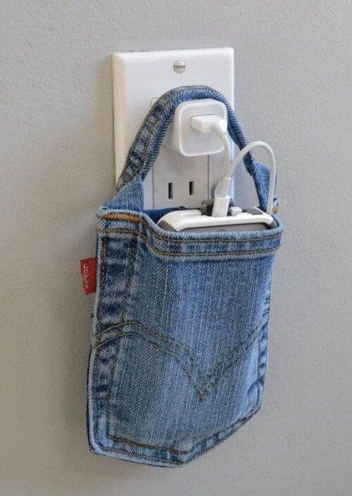 Telefon holder af gamle jeans