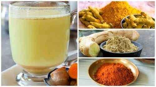 Detox med ingefær-, gurkemeje- og peber