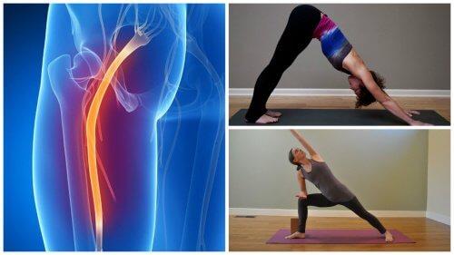 Yogaøvelser, der kan lindre smerte i iskiasnerven