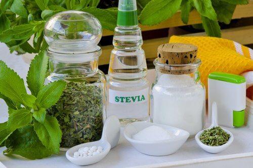 Stevia i forskellige former