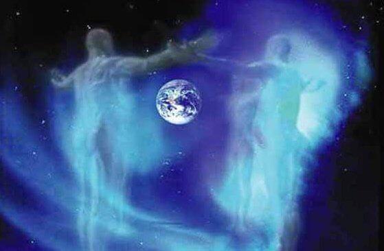 Planeten jord og en rummand