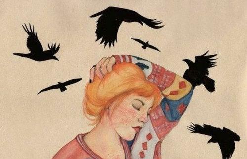 Kvinde med fugle