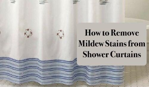 Sådan fjerner man mug på et badeforhæng