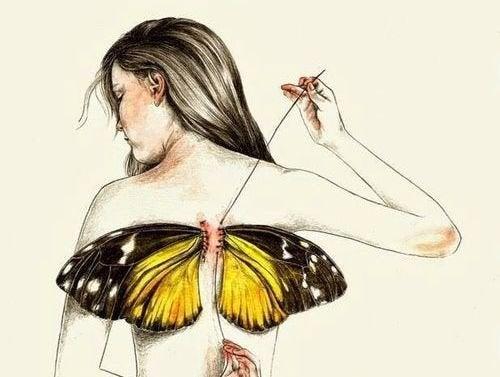 Vi er alle født med vinger, men nogle gange tager livet dem fra os
